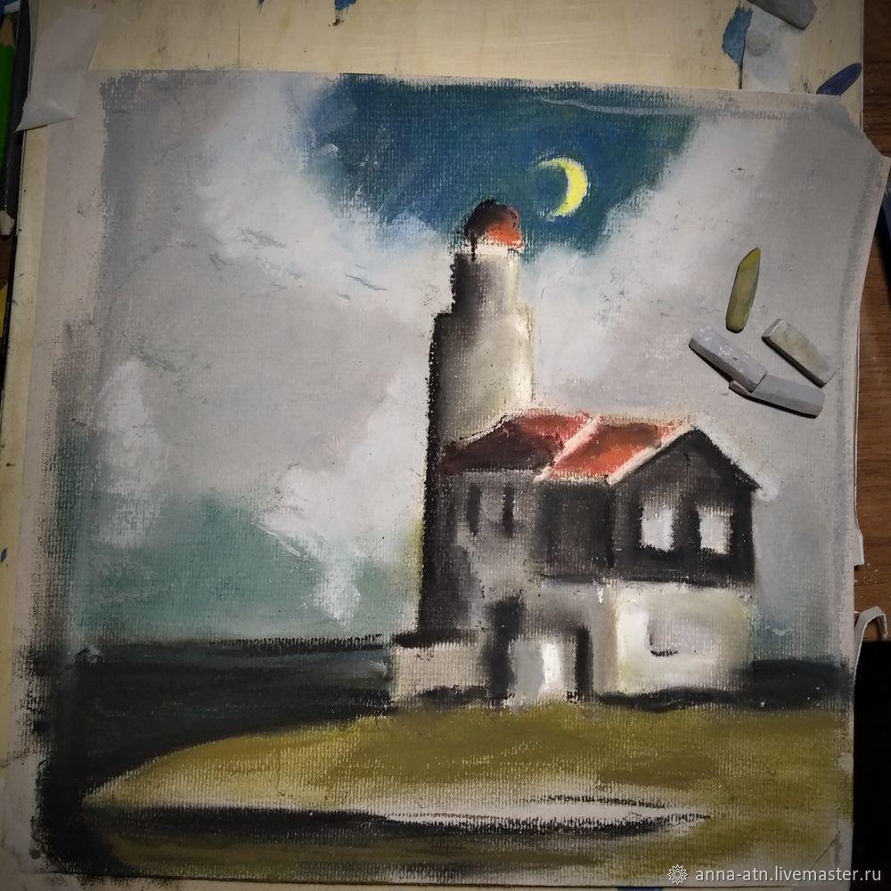 Мастер-класс картина  «Маяк»  сухой пастелью, фото № 3