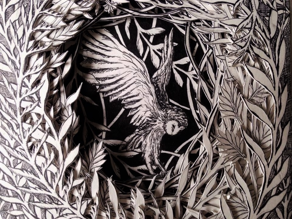 Isobelle Ouzman Creates Amazing Multi-Layered Compositions Cut Of Old Books, фото № 37