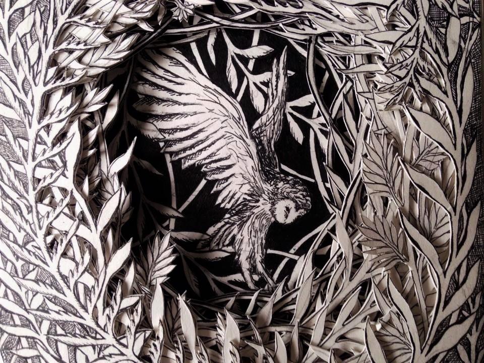 Isobelle Ouzman создаёт удивительные многослойные композиции, вырезанные из старых книг, фото № 37