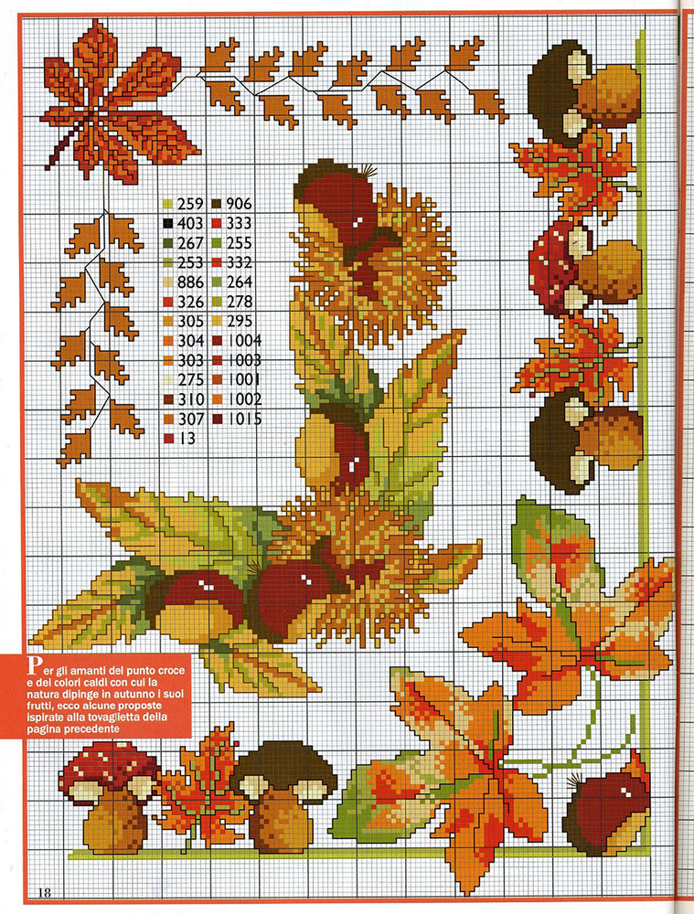 Влюбленные в осень: 50+ схем для вышивки крестиком, фото № 29
