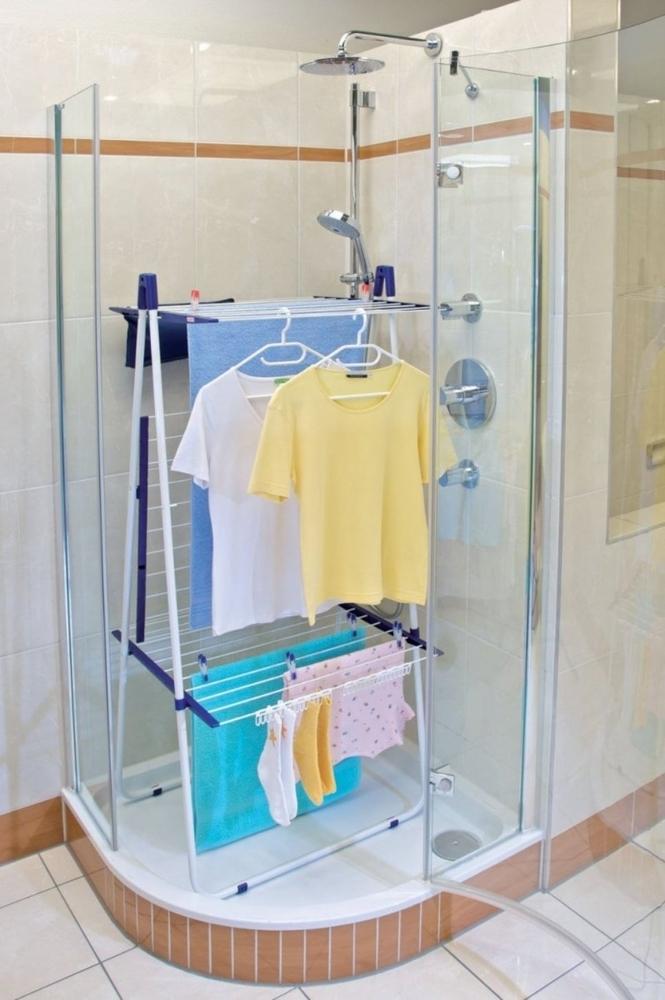 Где сушить белье в квартире красиво и удобно? (33 обычных и необычных решений), фото № 10
