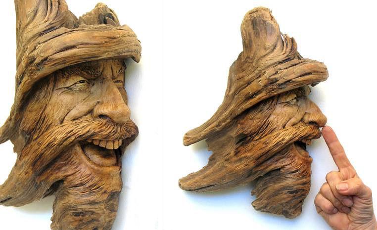 Нэнси Татл превращает коряги и обломки деревьев в сказочные деревянные скульптуры, фото № 9