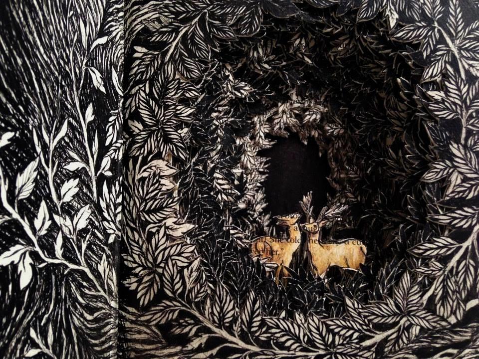 Isobelle Ouzman создаёт удивительные многослойные композиции, вырезанные из старых книг, фото № 17