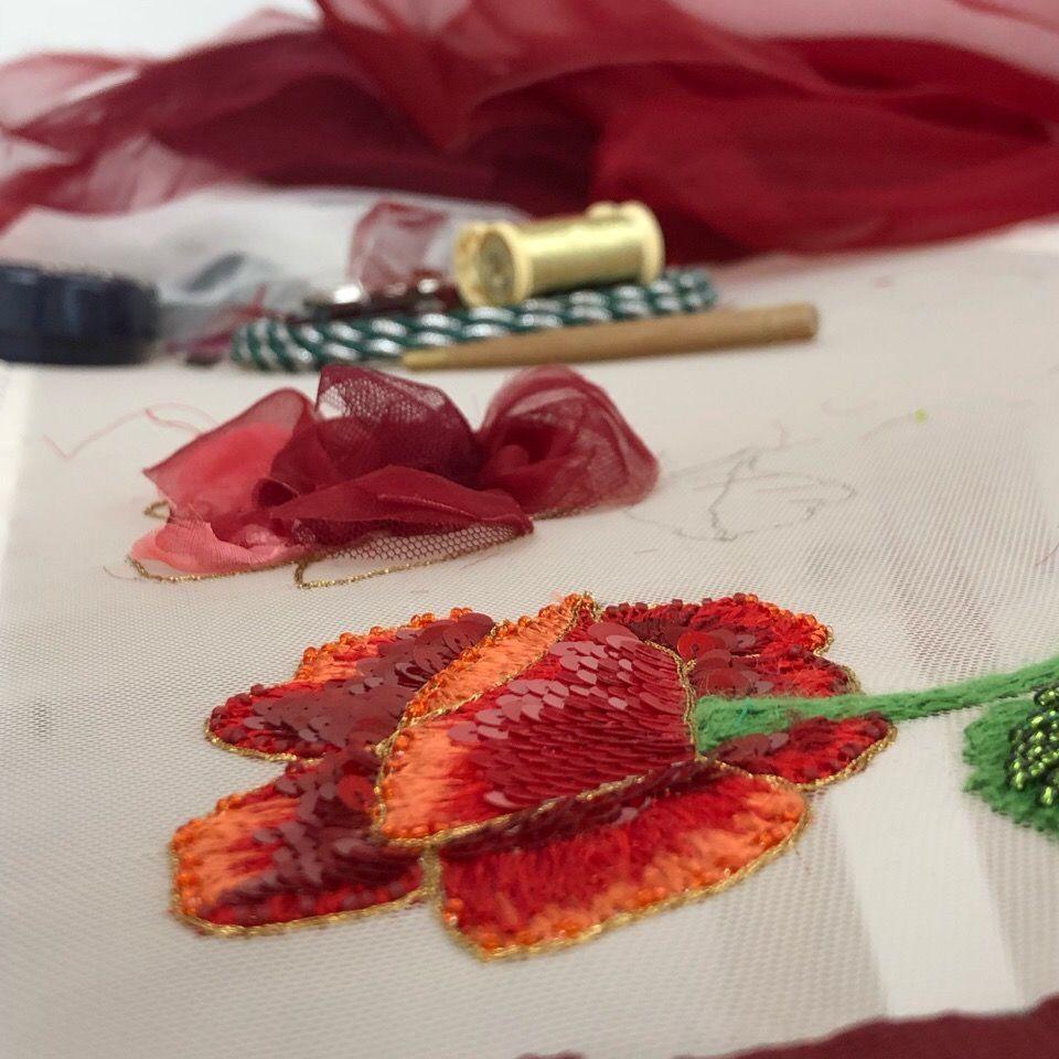 люневильская вышивка, обучение вышивке