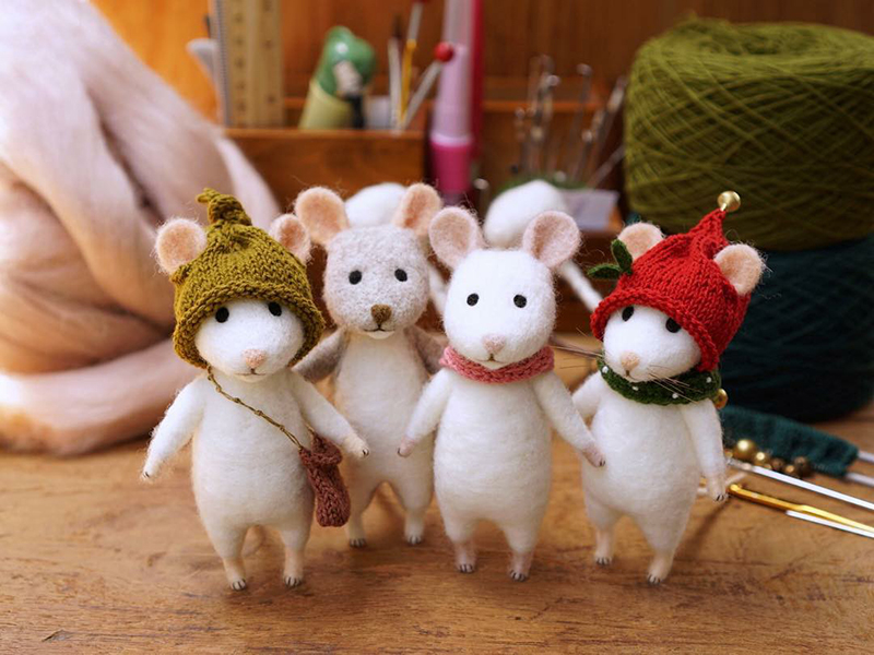 Mouse Stories: Adorable Felted Toys By Little Wool Tails, фото № 22