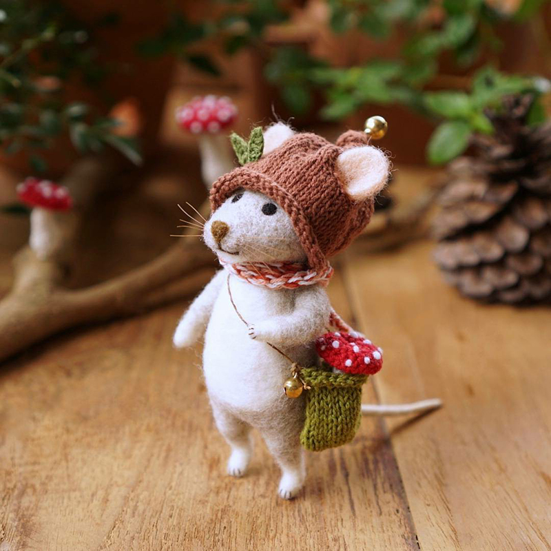 Mouse Stories: Adorable Felted Toys By Little Wool Tails, фото № 6