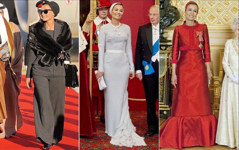 Самая модная женщина Востока. Так называют Шейху Мозу. Ее наряды и утонченный стиль, фото № 5