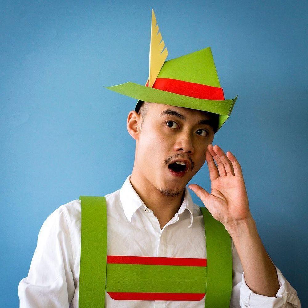 Повелитель бумаги inus ui создаёт маски и костюмы из цветного картона, фото № 15