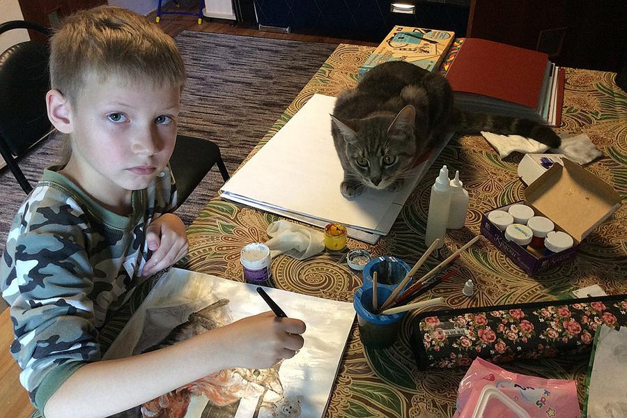 9-летний художник спасает животных из приюта: удивительный проект «Добрая кисть», фото № 3