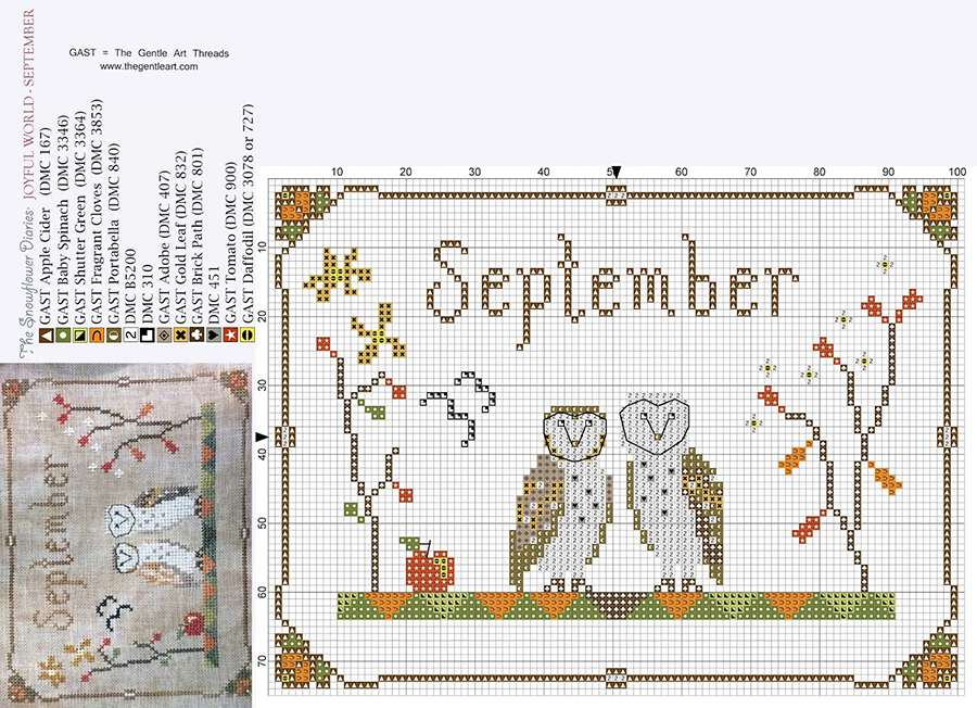 In Love With Autumn: 50+ Cross Stitch Patterns, фото № 21