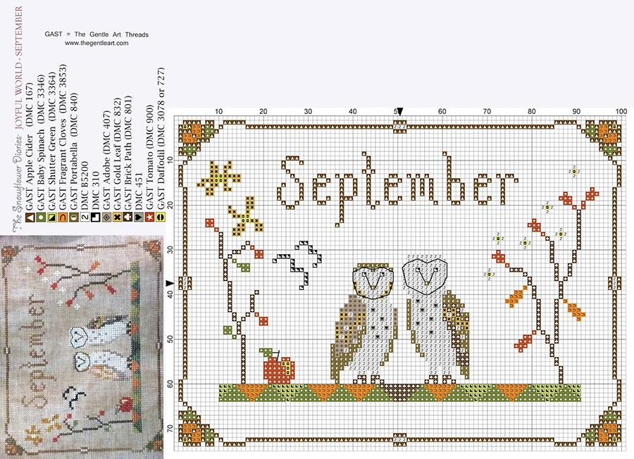 Влюбленные в осень: 50+ схем для вышивки крестиком, фото № 21