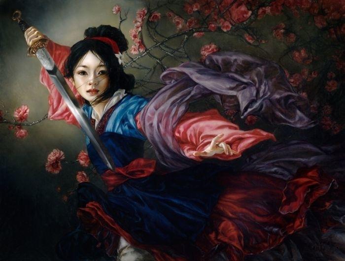 Художница нарисовала диснеевских принцесс в духе эпохи Возрождения. Что из это получилось? Смотрите и удивляйтесь, фото № 4