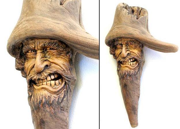 Нэнси Татл превращает коряги и обломки деревьев в сказочные деревянные скульптуры, фото № 33