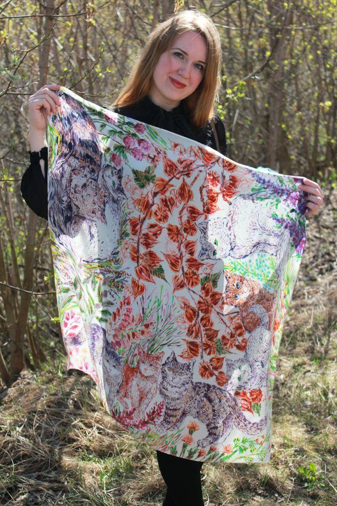 платок батик, подарок женщине