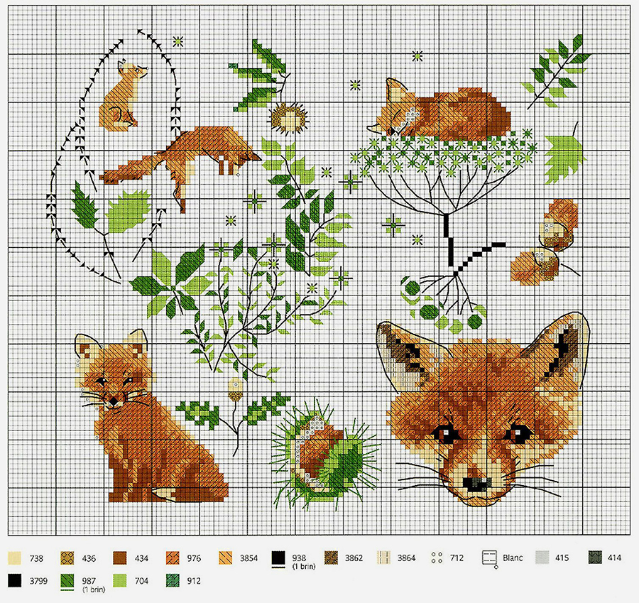 In Love With Autumn: 50+ Cross Stitch Patterns, фото № 8