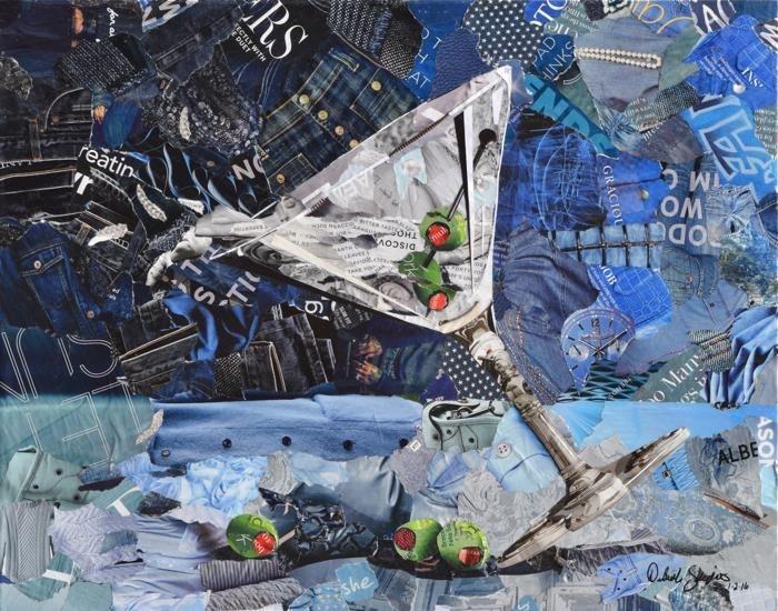 Дебора Шапиро создает коллажи из рваных кусочков бумаги и глянцевых журналов, фото № 50