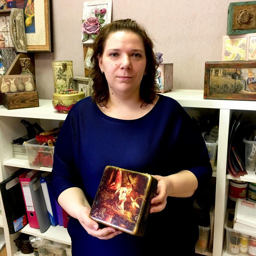 Шкатулка  «Магия света»  — декупаж с эффектом свечения!, фото № 6