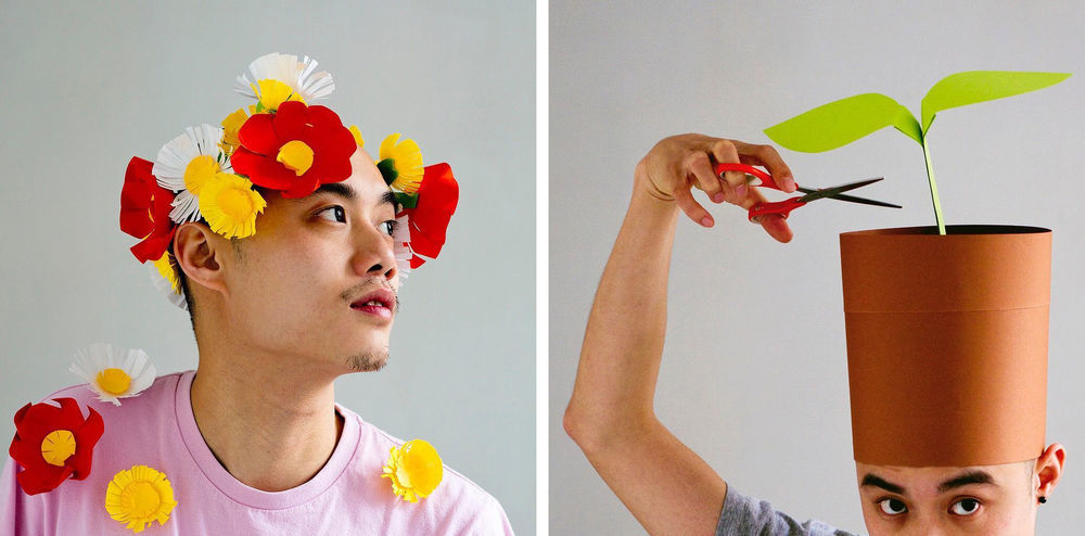 Повелитель бумаги inus ui создаёт маски и костюмы из цветного картона, фото № 17
