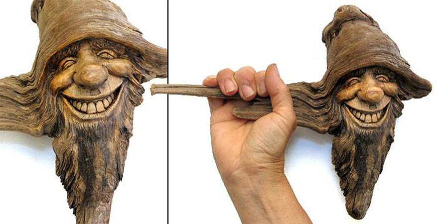 Нэнси Татл превращает коряги и обломки деревьев в сказочные деревянные скульптуры, фото № 37