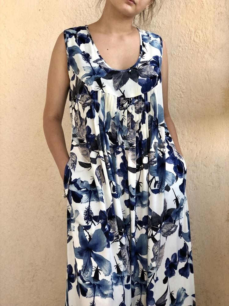Новое платье с синими цветами, фото № 15