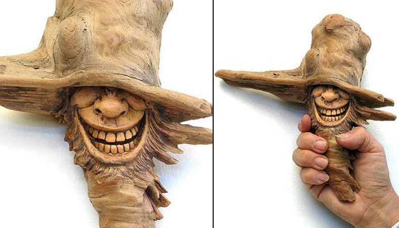 Нэнси Татл превращает коряги и обломки деревьев в сказочные деревянные скульптуры, фото № 18