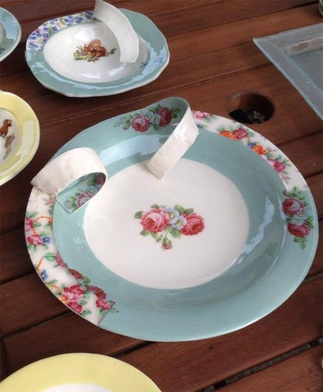 Soul of Dishes: Artist Found out What is Inside Porcelain Set and Cut It, фото № 7