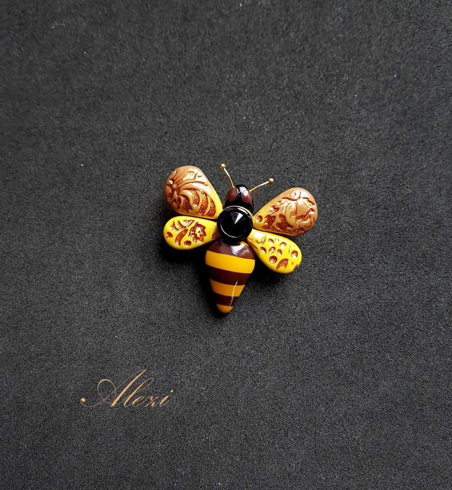 Creating Bee Brooch from Polymer Clay, фото № 19