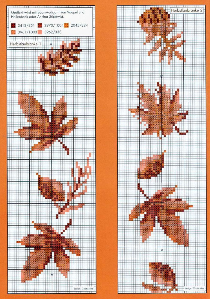 Влюбленные в осень: 50+ схем для вышивки крестиком, фото № 34