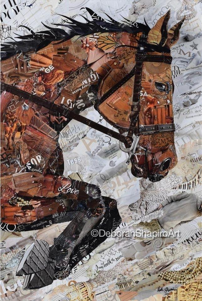 Дебора Шапиро создает коллажи из рваных кусочков бумаги и глянцевых журналов, фото № 10