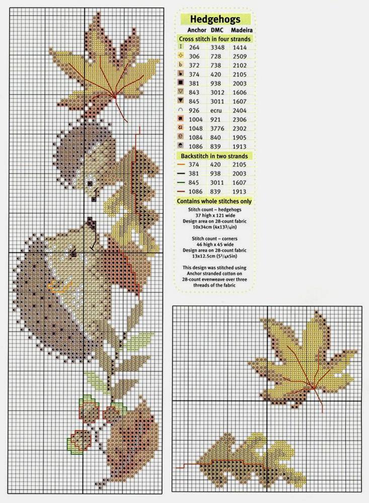 Влюбленные в осень: 50+ схем для вышивки крестиком, фото № 13
