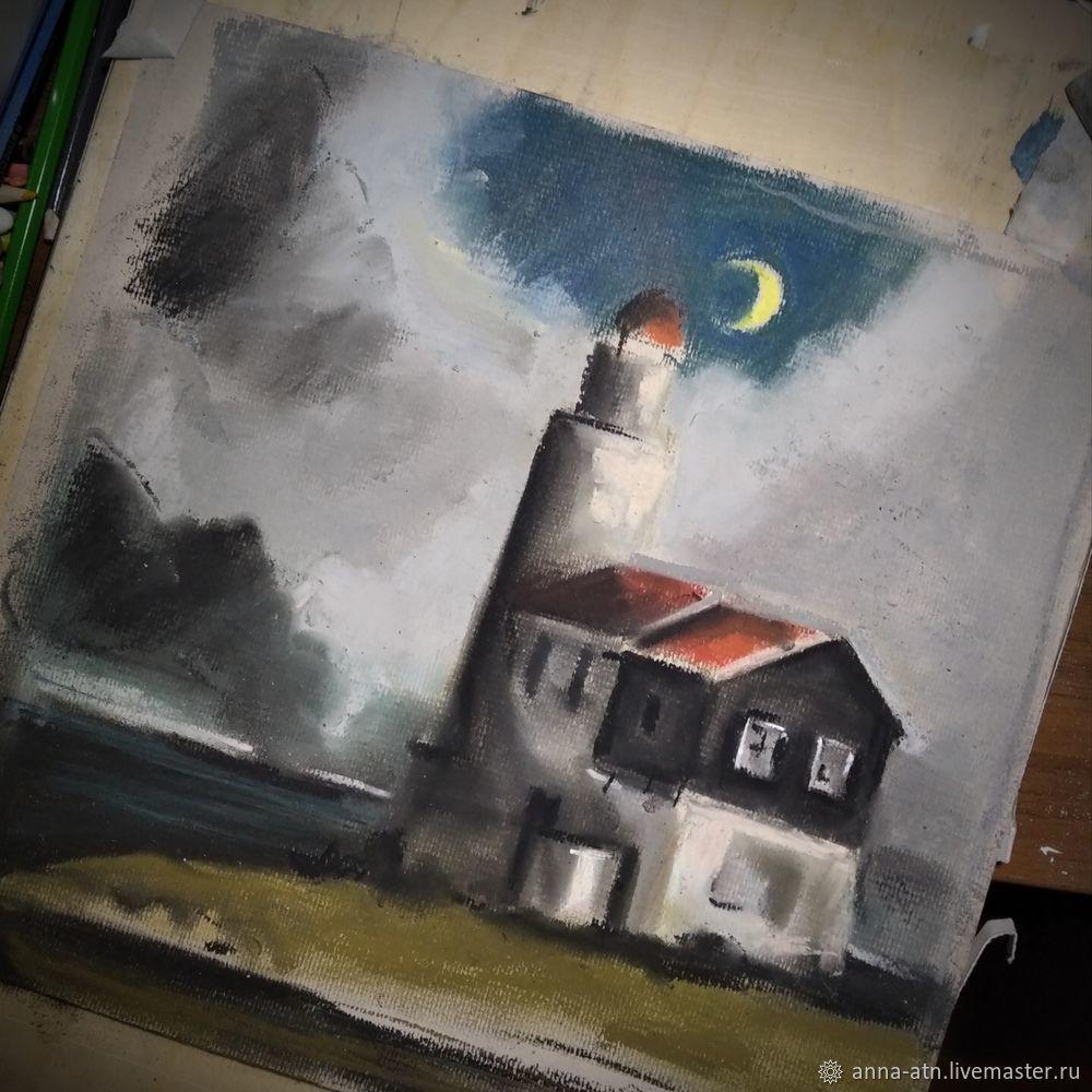 Мастер-класс картина  «Маяк»  сухой пастелью, фото № 4