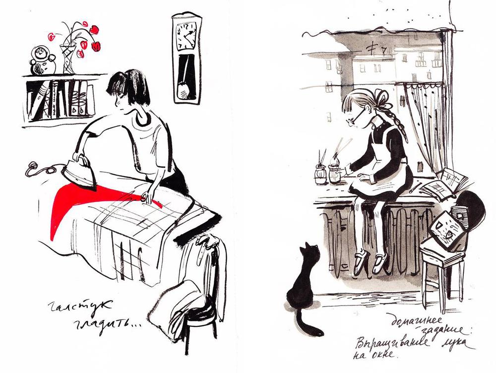 Назад в прошлое. Образ детства в рисунках Евгении Двоскиной, фото № 27