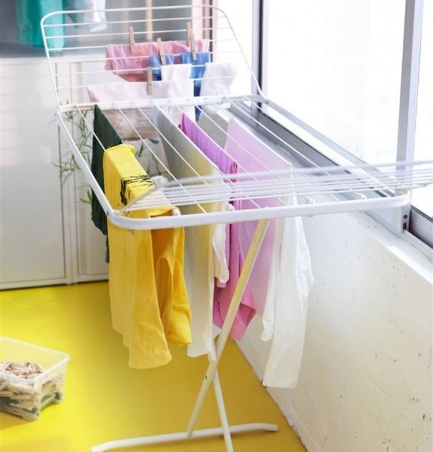 Где сушить белье в квартире красиво и удобно? (33 обычных и необычных решений), фото № 9