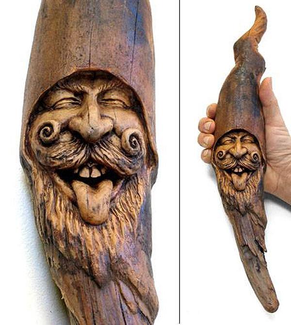 Нэнси Татл превращает коряги и обломки деревьев в сказочные деревянные скульптуры, фото № 45