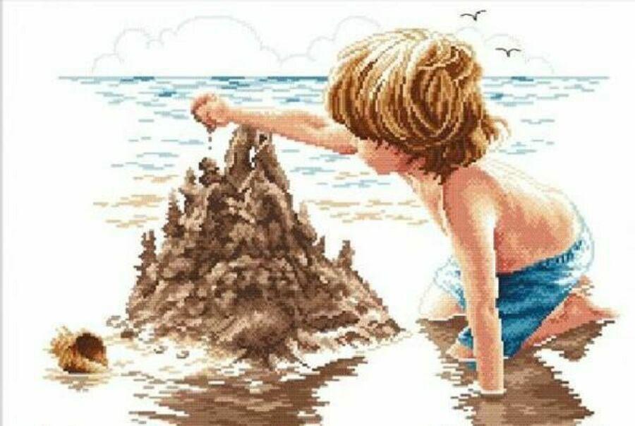 Лето, солнце, море, пляж в вышивке – Ярмарка Мастеров<br />