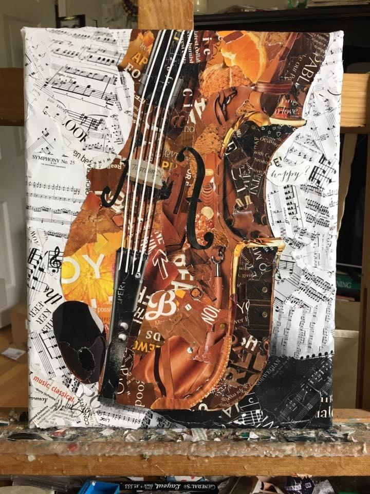 Дебора Шапиро создает коллажи из рваных кусочков бумаги и глянцевых журналов, фото № 38