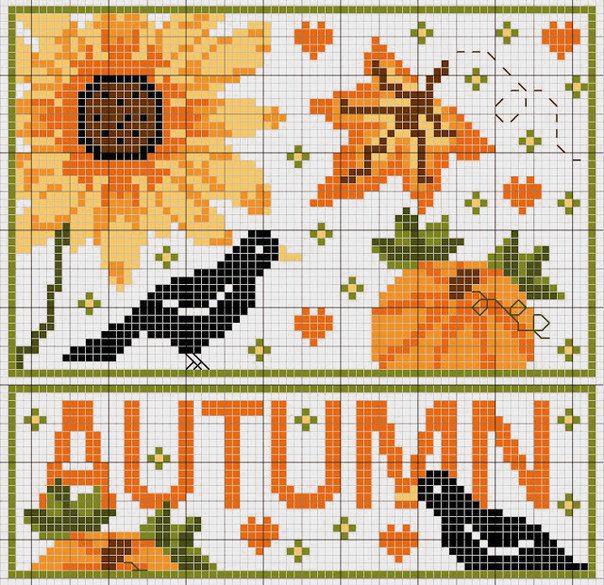Влюбленные в осень: 50+ схем для вышивки крестиком, фото № 6