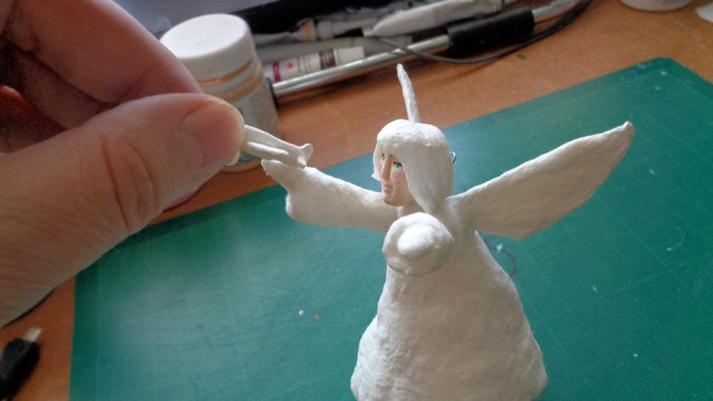 Как создать Ангела-хранителя полетов из ваты, фото № 17