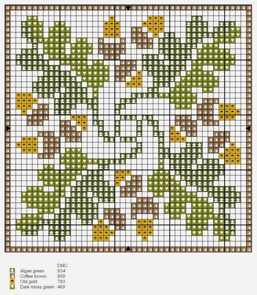 Влюбленные в осень: 50+ схем для вышивки крестиком, фото № 17