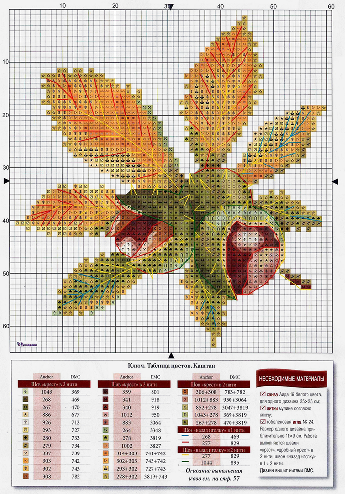 Влюбленные в осень: 50+ схем для вышивки крестиком, фото № 30
