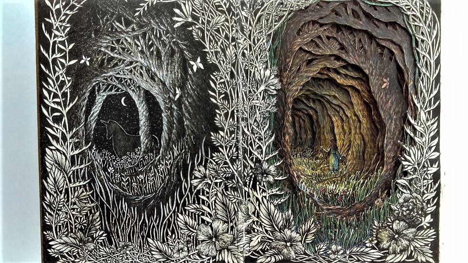 Isobelle Ouzman создаёт удивительные многослойные композиции, вырезанные из старых книг, фото № 18