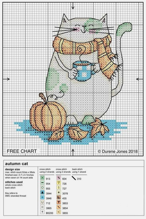In Love With Autumn: 50+ Cross Stitch Patterns, фото № 12