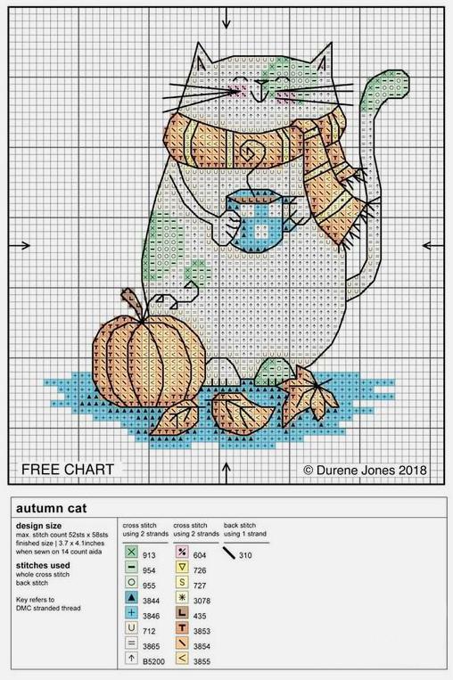 Влюбленные в осень: 50+ схем для вышивки крестиком, фото № 12
