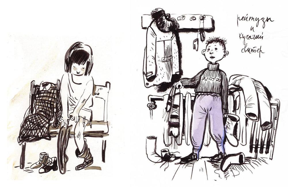 Назад в прошлое. Образ детства в рисунках Евгении Двоскиной, фото № 5