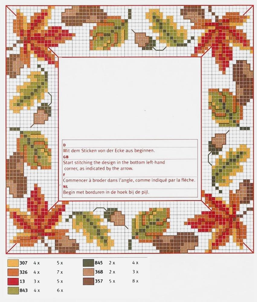 Влюбленные в осень: 50+ схем для вышивки крестиком, фото № 22