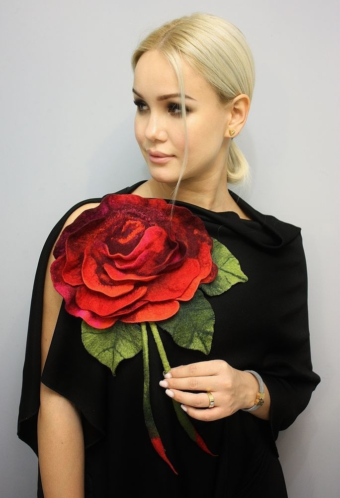 Мк Елены Дол  «бРошь Хххl. Роза», фото № 6