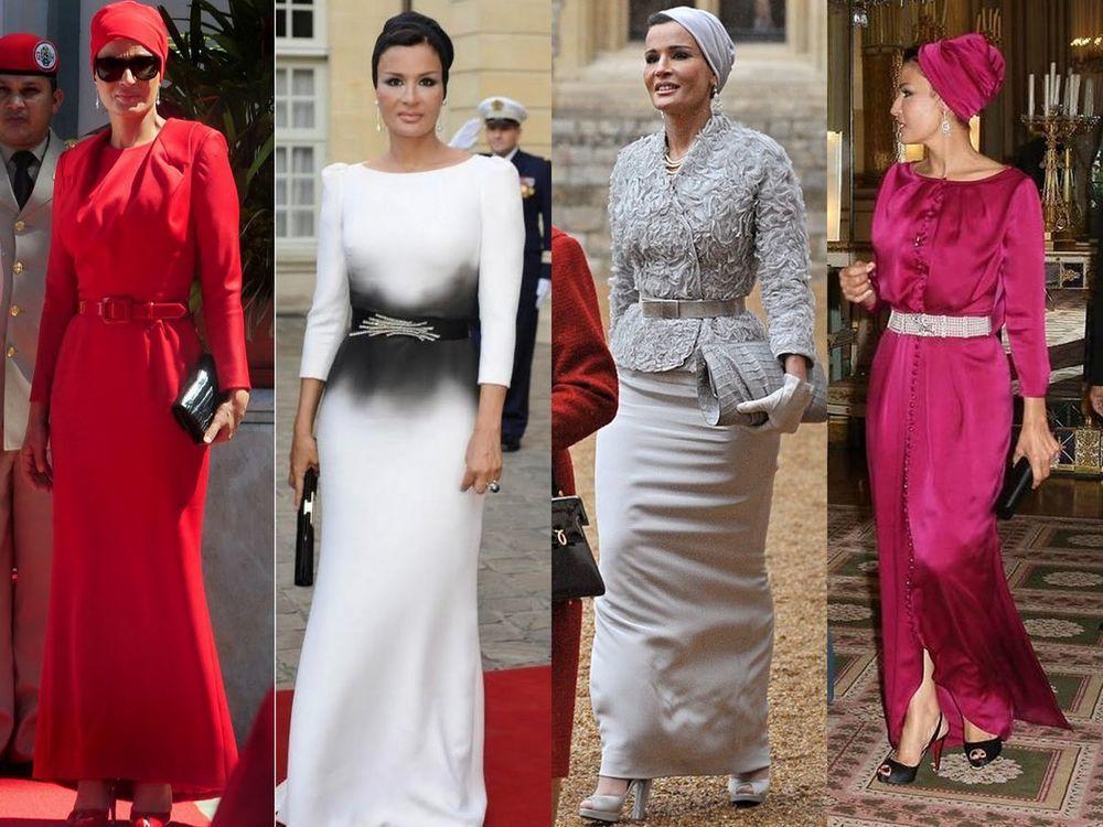 Самая модная женщина Востока. Так называют Шейху Мозу. Ее наряды и утонченный стиль, фото № 17