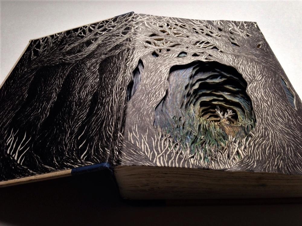 Isobelle Ouzman создаёт удивительные многослойные композиции, вырезанные из старых книг, фото № 12