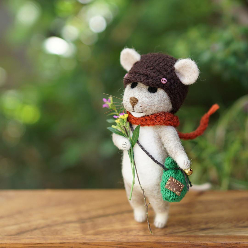 Mouse Stories: Adorable Felted Toys By Little Wool Tails, фото № 4
