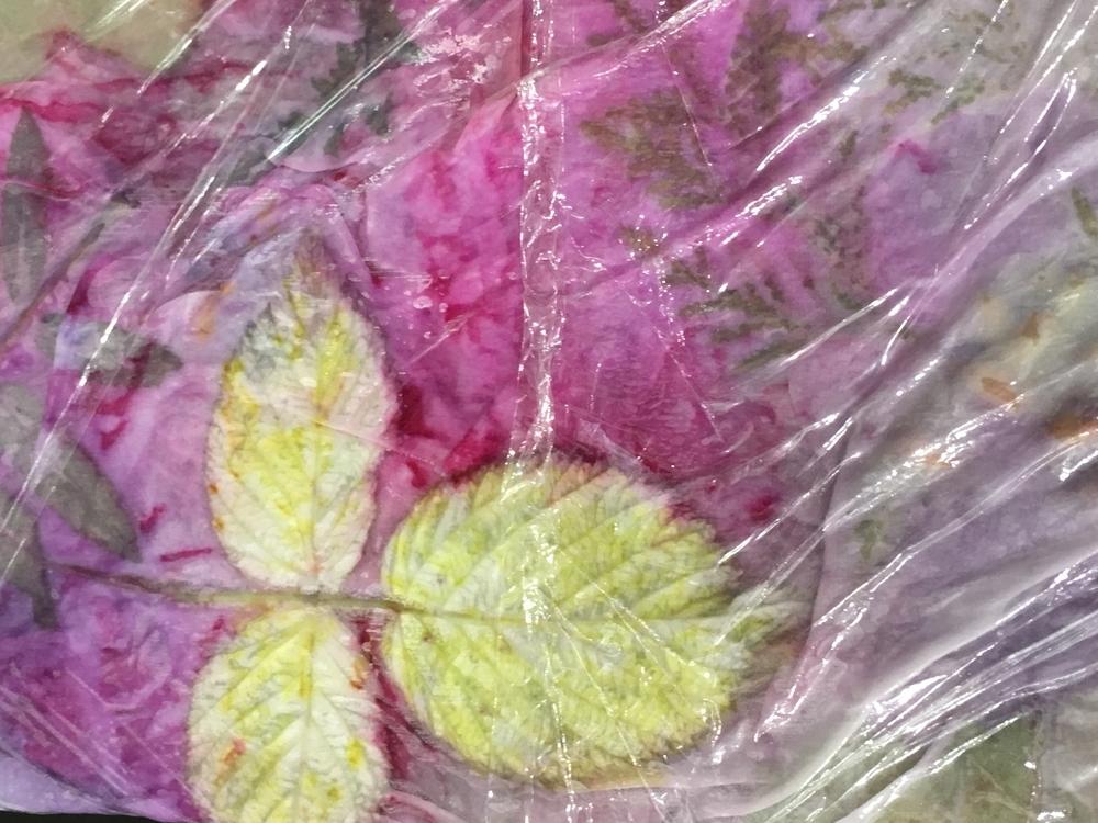 Палантин « Ботанический атлас. Крашение в технике «многоцветный ботанический принт», фото № 9